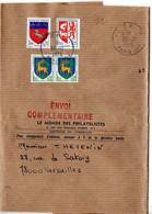 Blason Guéret, Auch Et Saint Lo Sur Bande-journal 'Envoi Complémentaire' Du 30.12.1976 Au Tarif De 29c - 1961-....