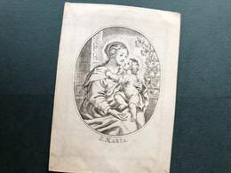 Kopergravure S.Maria Perkament Diercxsens Marie Catherine Anne °1818+ 4 Mai 1836 17 Ans Anvers Antwerpen Gravure - Obituary Notices