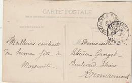 Yvert 138 Semeuse Cachet Ambulant Convoyeur CORNIMONT à REMIREMONT Sur Carte Postale Olima Tunnel Vosges - Lettres & Documents