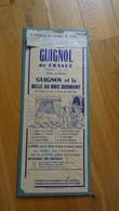 88 REMIREMONT Années 1940/60 Affiche  J. ZILLIOX  GUIGNOL De France Guignol Et La Belle Au Bois Dormant - Affiches