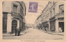 Yvert 236 Semeuse Cachet Flamme Daguin LA ROCHEFOUCAULT Charente 1928 Sur Carte Postale Rue Des Halles - 1921-1960: Moderne