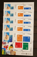 ARMENIA 2006 THE 50TH ANNIVERSARY OF THE FIRST EUROPA STAMPS LOT 10 M/SHEETS PERFORED MNH - 2006