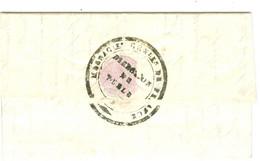 Lettre Cachet Messageries Générales De France De Tulle Corrèze Verso Lettre De Service 1835 - 1801-1848: Precursors XIX