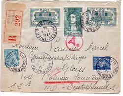 Lettre Recommandée Du 1.8.44 Pour L'Allemagne - 1921-1960: Moderne