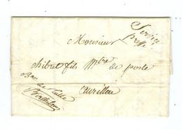 Lettre De Service Du Bureau De Tulle Corrèze Pour Maître Des Postes à Aurillac Cantal 1836 - 1801-1848: Precursors XIX