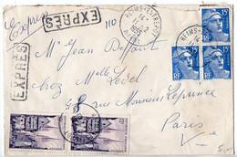 Gandon + Quimper Sur Lettre Par Exprès Du 11.2.1955 - 1921-1960: Moderne