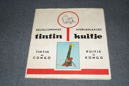RARE Tintin,Hergé,original,carnet De Décalcomanies,Tintin Au Congo,complet Superbe état De Collection,15,5 Cm./14,5 Cm. - Hergé