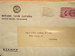 BUSTA DEL ROTARY CLUB CATANIA  VB1964 BOLLO CEPT EUROPA 30 LIRE  ISOLATO  HW3807 - Catania