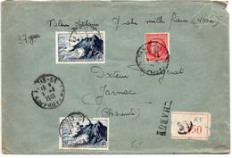 Lettre Recommandée Et Chargée (Valeur Déclarée 4000F) Du 1.4.1949 - 1921-1960: Moderne