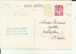 """55 - Meuse - Bar Le Duc - Carte Pub - Pro - """" Au Louvre """" Maison Frimont - - Bar Le Duc"""