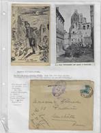 Postes Militaires Belge 1914 - 3 Items CPA Louvain Leuven Uitleg Frans Explication En Français Retour 'ouvert 122' - Belgisch Leger