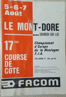 Programme Course De Côte 1978 Facom Motobecane - Programs
