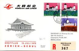 Zurich Seoul 1975 - Korean Air Lines KAL DC-10 - 1er Vol Erstflug First Flight - - Korea, South