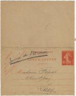 S.M.Service De L'armée Carte Lettre Republiek Française 1914 - Belgisch Leger