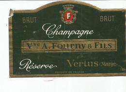 N3 / Wine Old Liqueur Alcohol LABEL Etichetta Etiqueta / Etiquette Alcool / CHAMPAGNE FOURNY Vertus - Champagne