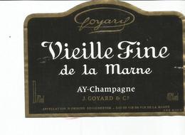 N3 / Wine Old Liqueur Alcohol LABEL Etichetta Etiqueta / Etiquette Alcool / CHAMPAGNE Vieille Fine De La Marne - Champagne