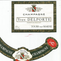 N3 / Wine Old Liqueur Alcohol LABEL Etichetta Etiqueta / Etiquette Alcool / CHAMPAGNE Yves Delporte - Champagne