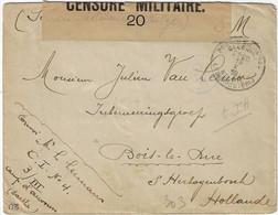 S.M. Postes Militaires Belgique België Legerposterij 1916 Censure 20 - Belgisch Leger