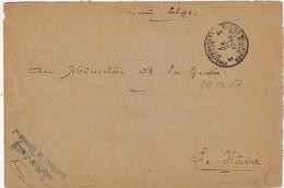 S.M. Postes Militaires Belgique België Legerposterij 1917 Au Ministére De La Geurre Le Hâvre - Belgisch Leger