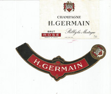 N3 / Wine Old Liqueur Alcohol LABEL Etichetta Etiqueta / Etiquette Alcool / CHAMPAGNE H GERMAIN - Champagne