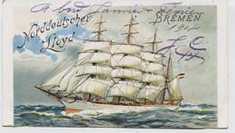 "10957 -Bateaux - Paquebot : NORDDEUTSCHER LLOYD BREMEN - Dampfer "" HOHENZOLLERN  ""  4 Féburar .1904   Dos Non Divisé - Piroscafi"