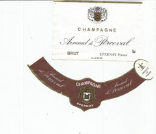 N3 / Wine Old Liqueur Alcohol LABEL Etichetta Etiqueta / Etiquette Alcool / CHAMPAGNE PEREVAL - Champagne