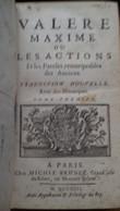 Maxime Ou Les Actions Et Les Paroles Remarquables Des Anciens VALERE Michel Brunet 1713 - 1701-1800
