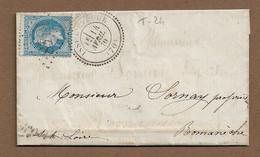 ISSY L'EVEQUE  : 1870 : GC 1848  + Cachet à Date  Type 24 :  ( Saône Et Loire ) : - 1849-1876: Periodo Classico