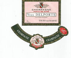 N3 / Wine Old Liqueur Alcohol LABEL Etichetta Etiqueta / Etiquette Alcool / CHAMPAGNE DELPORTE - Champagne