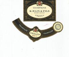N3 / Wine Old Liqueur Alcohol LABEL Etichetta Etiqueta / Etiquette Alcool / CHAMPAGNE BLIN FILS - Champagne