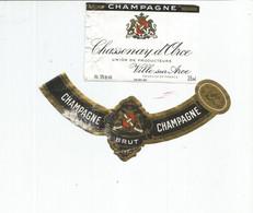 N3 / Wine Old Liqueur Alcohol LABEL Etichetta Etiqueta / Etiquette Alcool / CHAMPAGNE Chassenay D'ora - Champagne