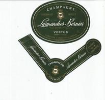 N3 / Wine Old Liqueur Alcohol LABEL Etichetta Etiqueta / Etiquette Alcool / CHAMPAGNE LARMENDIER BERNIER VERTUS - Champagne