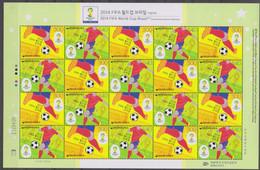 Soccer World Cup 2014 - Football  - KOREA - Sheet MNH - 2014 – Brazilië