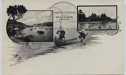 10996  - CALIFORNIE -  BELVEDERE COVE  - THE HOTEL  Sport - PECHE à La TRUITE EN CANOE -    Vers 1903 - Other