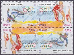 Bloc De 2 Paires Neuves ** N° P4436a(Yvert) France 2010 - JO Vancouver 2010, Patinage Et Ski - Ongebruikt