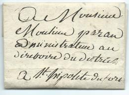 MARQUE POSTALE NIMES GARD 1791 / POUR SAINT HIPPOLYTE DU FORT - 1701-1800: Precursores XVIII