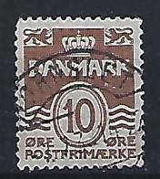 Denmark  1937-38  Wellenlinien (o) Mi.233 I (type Ia) (cancelled HORNSLET) - Used Stamps