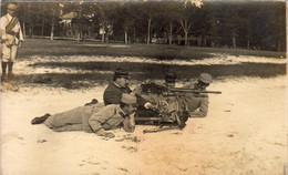 D64  BAYONNE Nos Militaires Apprenant Le Maniement De La Mitrailleuse  ........... Carte Photo - Bayonne