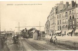 44 -   NANTES -  Le Quai De La Fosse Et La Gare De La Bourse   296 - Nantes