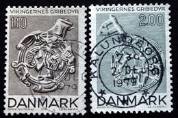 Denmark Cz.Slania 1979  Viking Gripping Animal Style / Viking Greiftierstil MiNr.688-89   ( Lot G 1048  ) - Used Stamps