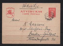 LITUANIA -1932 - Cartolina Postale 15ct. Da Kaunas 4/7/1932 X Berlino - Lituania