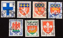 N° 1180  A  1186   OBLITÉRÉS  ( LOT:2752  ) - 1941-66 Stemmi E Stendardi