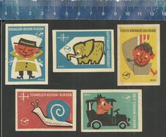 LUFTHANSA Serie 3 Issued 1961 DDR Matchbox Labels - Matchbox Labels