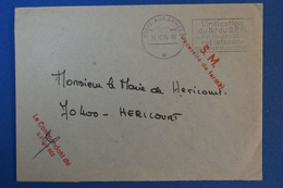 J4 FRANCE BELLE LETTRE 1974 POSTE AUX ARMEES POUR HERICOURT + CACHETS ROUGES + AFFRANCHISSEMENT INTERESSANT - Storia Postale