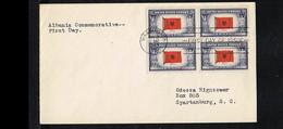 History - World Wars - Flag Of Albania - FDC Mi. 512x4 USA 1964 [P04_970] - Otros
