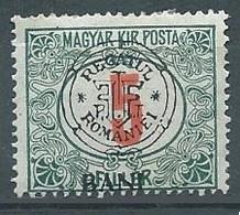 Transylvanie Cluj Timbres-taxe YT N°3 Timbre De Hongrie Surchargé Regatul Romaniei Neuf/charnière * - Transylvania
