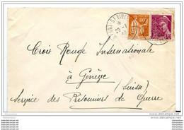 134 - 23 - Enveloppe Envoyée De  Pont St Vincent à La Croix-Rouge Genève, Service Des Prisonniers De Guerre 1940 - Guerra De 1939-45