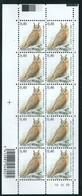 Buzin Nr 3737** Velletje Van 10 Met Plaatnr 10  TRFL - 1985-.. Oiseaux (Buzin)