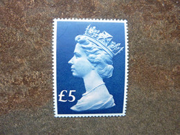 1977  QUEEN ELISABETH II  5£  Pink And Blue   SG = 1026f  * MLH - Unused Stamps