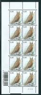 Buzin Nr 3737** Velletje Van 10 Met Plaatnr 4  TRU2 Wit Papier - 1985-.. Oiseaux (Buzin)